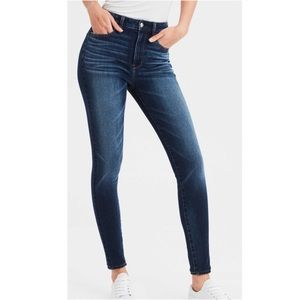 American eagle dark wash skinny jeans size 4S